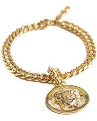 Serge Denimes - Gold Medusa Pendant Bracelet - Lyst
