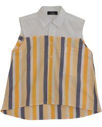 W.Y.L.D.E. Paris - Stripe White & Yellow Shirt - Lyst