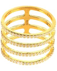 LÁTELITA London - Four Line Geometric Fashion Ring Gold - Lyst