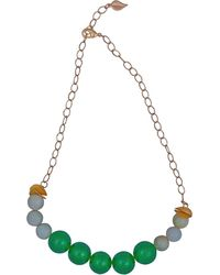 Magpie Rose - Green Onyx & Jade Necklace - Lyst