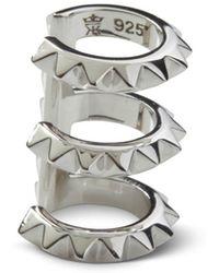 Kasun - Croc Triple Ear Cuff Silver - Lyst