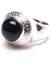 Puck Wanderlust - Silver Black Onyx Power Ring - Lyst