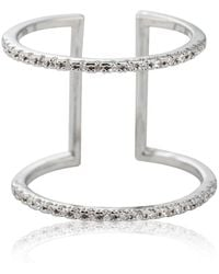 Astrid & Miyu - Double Bewitched Ring In Silver - Lyst