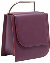 Lautem - Pascal Leather Bag Eggplant - Lyst