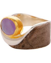Carousel Jewels - Amethyst Gold & Silver Pocket Ring - Lyst