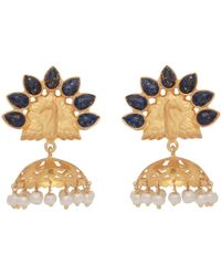 Carousel Jewels - Lapis Peacock Chandelier Earrings - Lyst