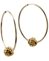 MARIE JUNE Jewelry - Monkey Paw Knot Gold Hoops - Lyst
