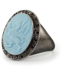 Vintouch Italy - Grypho Signet Ring - Lyst