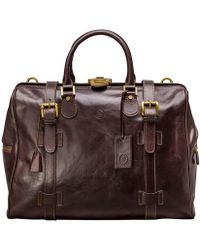 Maxwell Scott Bags - Medium Brown Leather Gladstone Travel Bag Gassano - Lyst