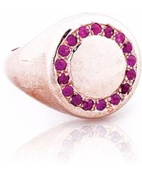 Sadekar Jewellery - A Knight Ring With Ruby - Lyst