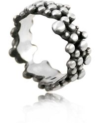Karolina Bik Jewellery - Molecular Ring White & Black - Lyst