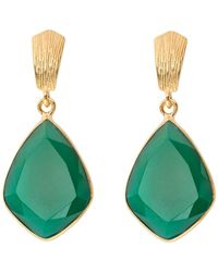 Juvi Designs - Glamour Puss Earrings With Green Onyx - Lyst