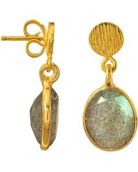 Juvi Designs - Antibes Drop Earring With Labradorite - Lyst