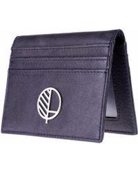 Drew Lennox - Luxury English Leather Men's Billfold Wallet In Charcoal Black - Lyst