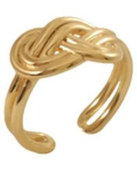 MARIE JUNE Jewelry Figure 8 Knot Gold Ring