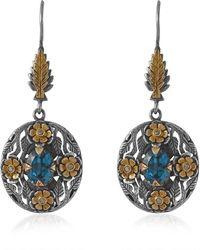 Emma Chapman Jewels - Bathsheba Blue Topaz Diamond Earrings - Lyst