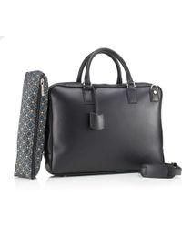 Mark Giusti - Milano Nappa Leather Laptop Bag Black - Lyst