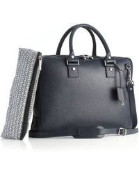 Mark Giusti - Milano Essential Laptop Bag Navy - Lyst