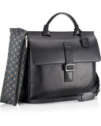 Mark Giusti - Milano Nappa Briefcase Black - Lyst