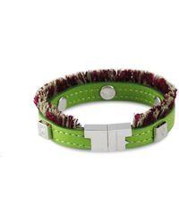 Tissuville - Flik Mini Bracelet Green Silver - Lyst