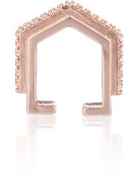 Astrid & Miyu - Fitzgerald Block Ear Cuff In Rose Gold - Lyst