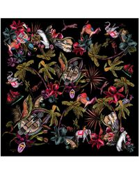 Klements - Medium Square Scarf Savage Print - Lyst