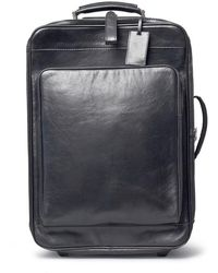 Maxwell Scott Bags | Luxury Italian Leather Suitcase With Wheels Piazzale Night Black | Lyst