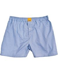 KLOTERS MILANO - Blue Multi-checked Boxer Shorts - Lyst