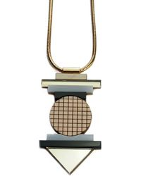 Nylon Sky - Totem Necklace Gold - Lyst