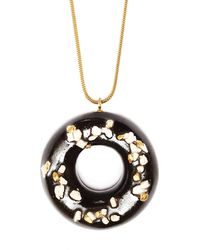 Tadam! Design - Chocolate Doughnut With Nut & Gold Sprinkles - Lyst
