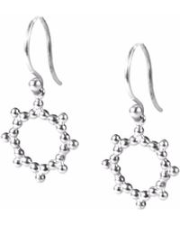 Agnes De Verneuil - Silver Earrings Sun - Lyst