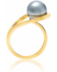 Neola - Aurea Gold Ring With Freshwater Pearl - Lyst
