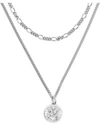 Serge Denimes Silver St Christopher Multi Chain Necklace