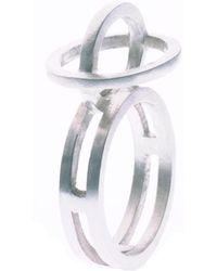 Nancy Rose Jewellery - Silver Ellipse Ring - Lyst