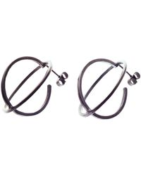 Nancy Rose Jewellery - Oxidised Large Ellipse Stud Earrings - Lyst