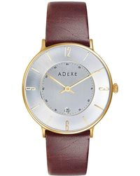 ADEXE Watches - Mac Grande Gold & Brown - Lyst