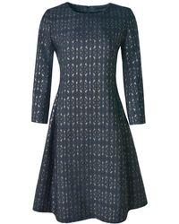 Xllullan - Aria Metallic Italian Jacquard Cocktail Dress Black - Lyst