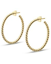 ISABEL LENNSE - L Thin Twisted Gold Loops - Lyst