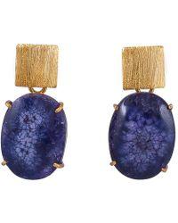 Magpie Rose - Purple Solar Quartz Earrings - Lyst