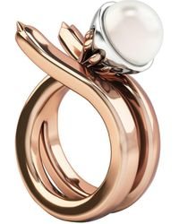 1986 - Rebellion Mirror Ring Pink & White - Lyst