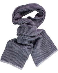 40 Colori - Grey Ribbed Wool & Cashmere Scarf - Lyst