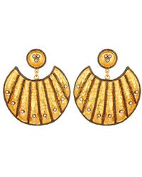 Carousel Jewels - Heritage Gold And Crystal Statement Earrings - Lyst