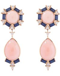Joana Salazar - The Vintage Coral Longuette Earring - Lyst
