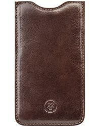 Maxwell Scott Bags - Brown Leather Iphone 6 Plus Sleeve The Dosolo - Lyst