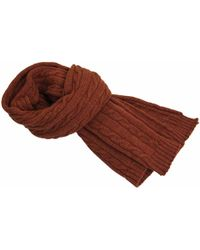 40 Colori - Rust Solid Thick Wool Scarf - Lyst