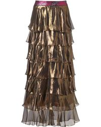 Supersweet x Moumi - Gold Foiled Genie Skirt - Lyst