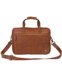 MAHI - Leather Cornell Satchel Briefcase In Vintage Brown - Lyst