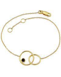 MONARC JEWELLERY - The Meridian Night Bracelet 9ct Gold + Black Spinel - Lyst