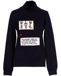 Acephala - Black Patch Roll Neck Sweatshirt Jumper - Lyst