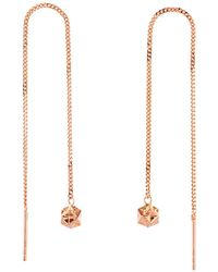Origami Jewellery - Magic Ball Rose Gold Chain Earrings - Lyst